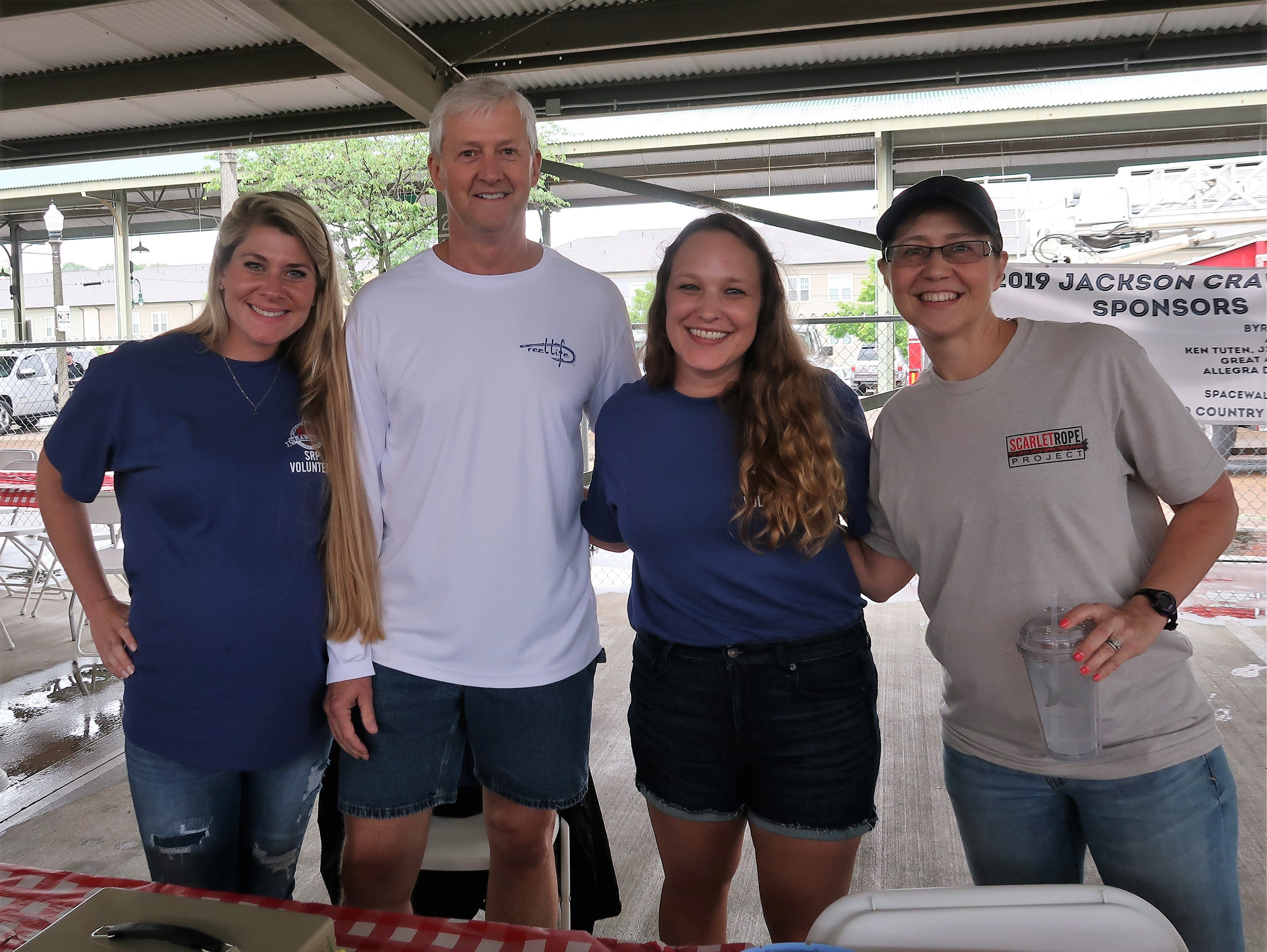 Community members ate 2,500 pounds of crawfish at the Second Annual Crawfest fundraiser for the Scarlet Rope Project at the West Tennessee Farmer's Market in Jackson on May 4, 2019.