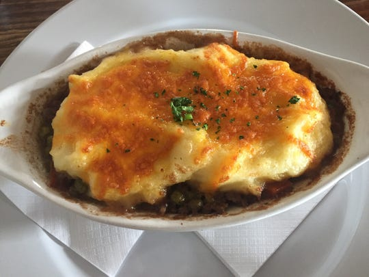 Irish cottage pie is available at Finn's in West Knoxville.