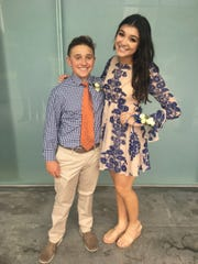 Hutch Pharr and Julia Rhodes attend the homecoming dance together in September.