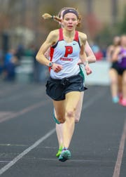Pinckney's Noelle Adriaens ran the 10th-fastest outdoor 3,200 in Michigan history by running 10:16.11 at the Golden Triangle Meet of Champions in Saline.