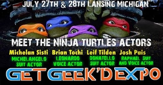 "Actors from the 1990 film ""Teenage Mutant Ninja Turtles"" are coming to Lansing this summer."