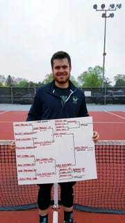 Clear Fork's Noah Brown won his second consecutive MOAC No. 1 Singles title in boys tennis.