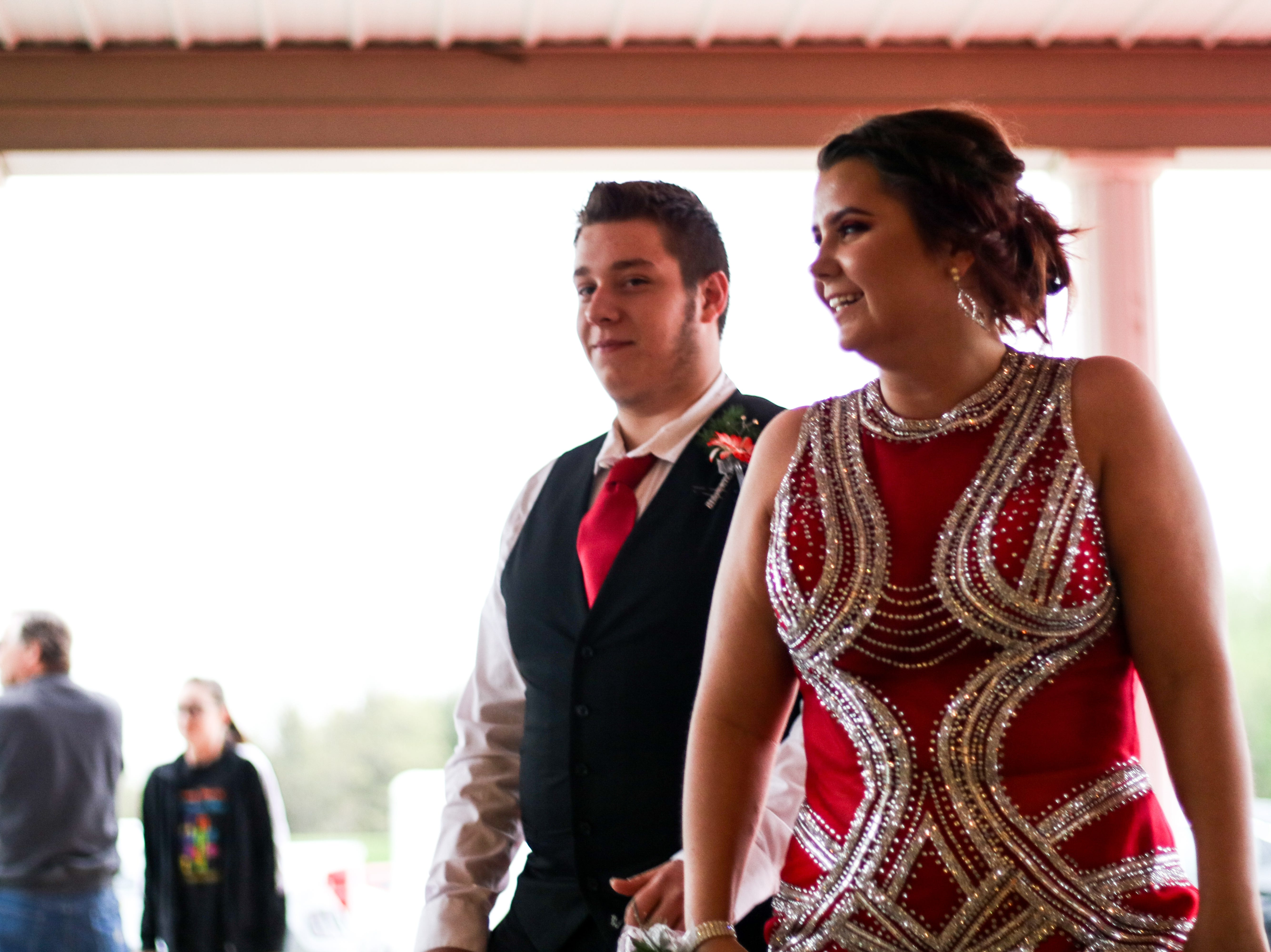 Students attend the Marion Pleasant prom at All Occasions in Waldo on Saturday May 4, 2019.