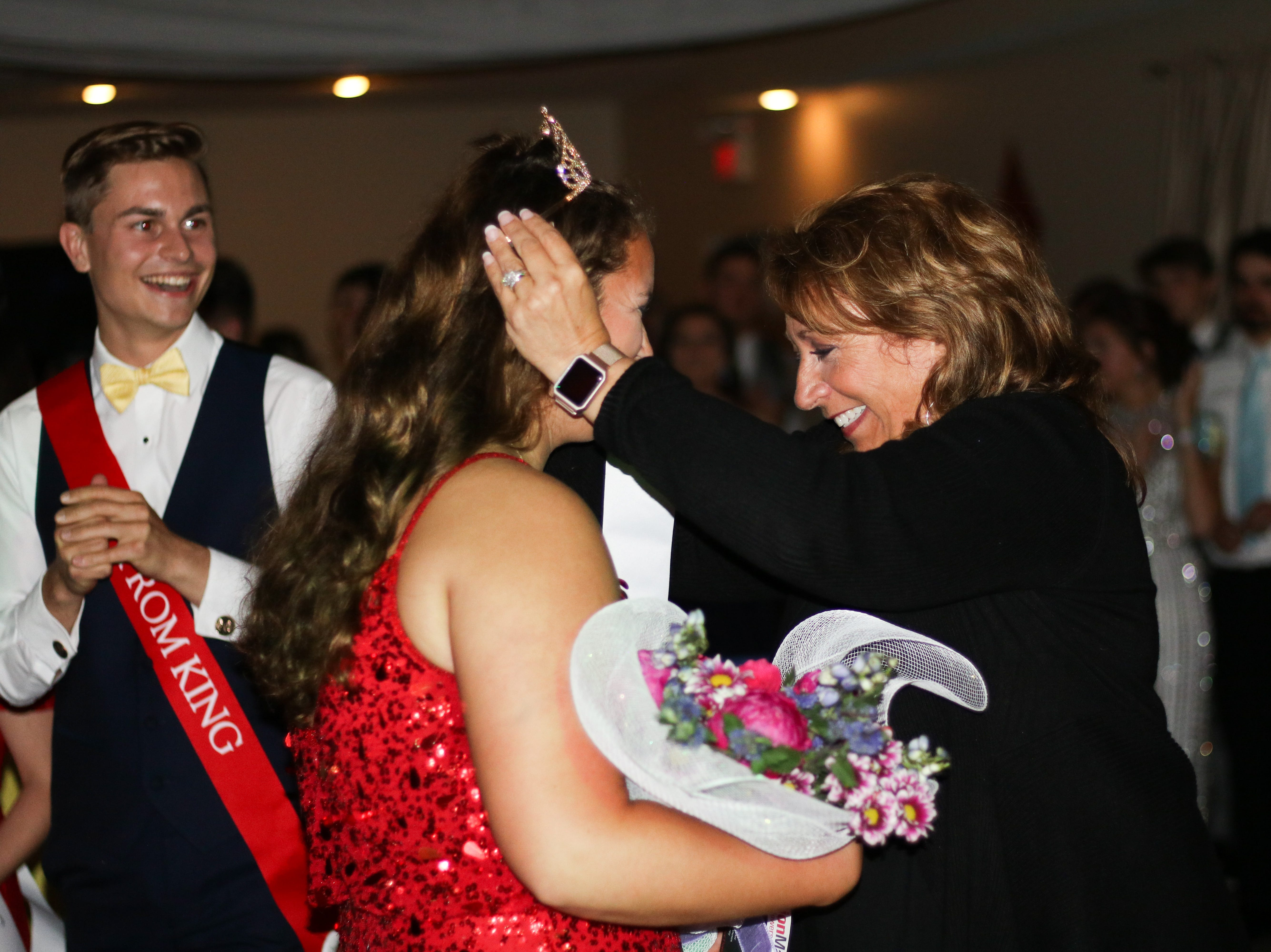 Grace Davis gets crowned as Pleasant's Prom Queen at All Occasions in Waldo on Saturday May 4, 2019.