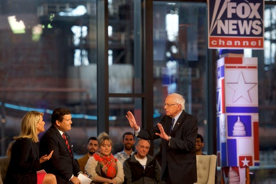 Democratic presidential candidate, U.S. Sen. Bernie Sanders (I-VT) participates in a Fox News Town Hall in Bethlehem, Pennsylvania. Sanders is running for president in a crowded field of Democrat contenders.