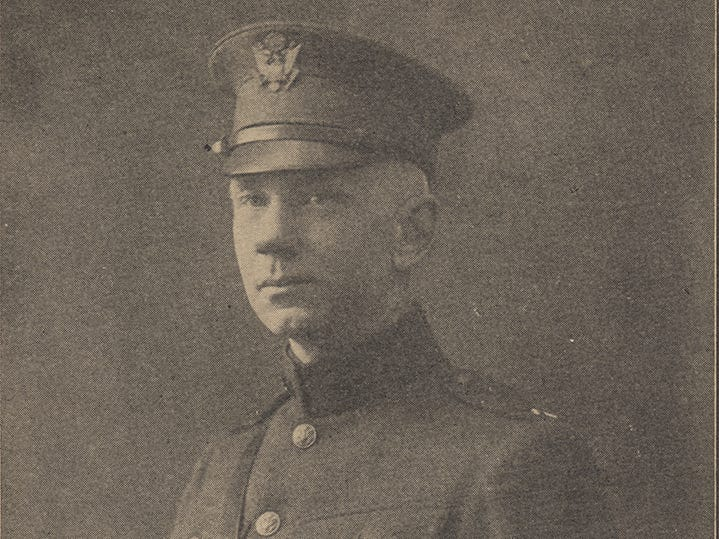 "Gustav Stearns was a pastor at a Milwaukee church when he left to serve as a chaplain with the Wisconsin National Guard's 32nd ""Red Arrow"" Division in World War I."