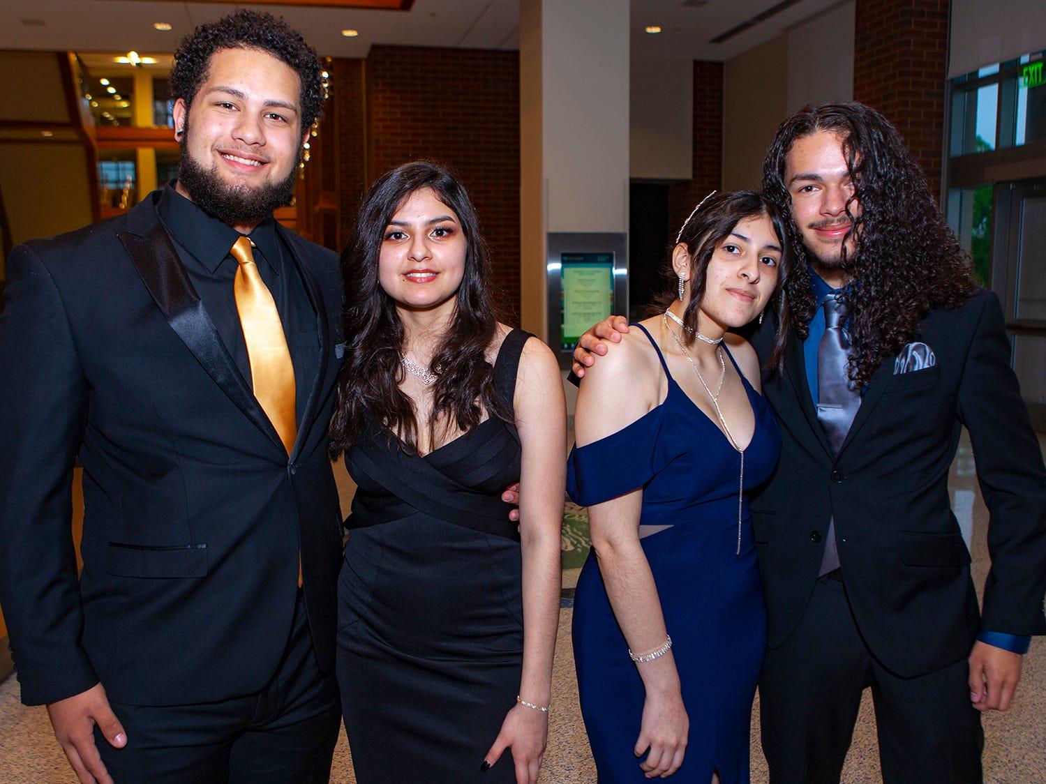 Hecktor Feliciano, Iris Gonzalez, Karen Gonzalez and Andres Feliciano at La Vergne High's prom, held Saturday, May 4, 2019 at MTSU's Student Union Building.
