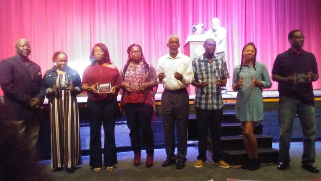 The inaugural Riverdale Track and Field Hall of Fame class was inducted Saturday. Inductees were Robert James, Kenzella Ruffin, Andrew Plowden, Chatiqua Vaughn Miller, Carmoski Mitchell, LeKeshua Scales Malone, Andrew Bigford and Chris Jones.