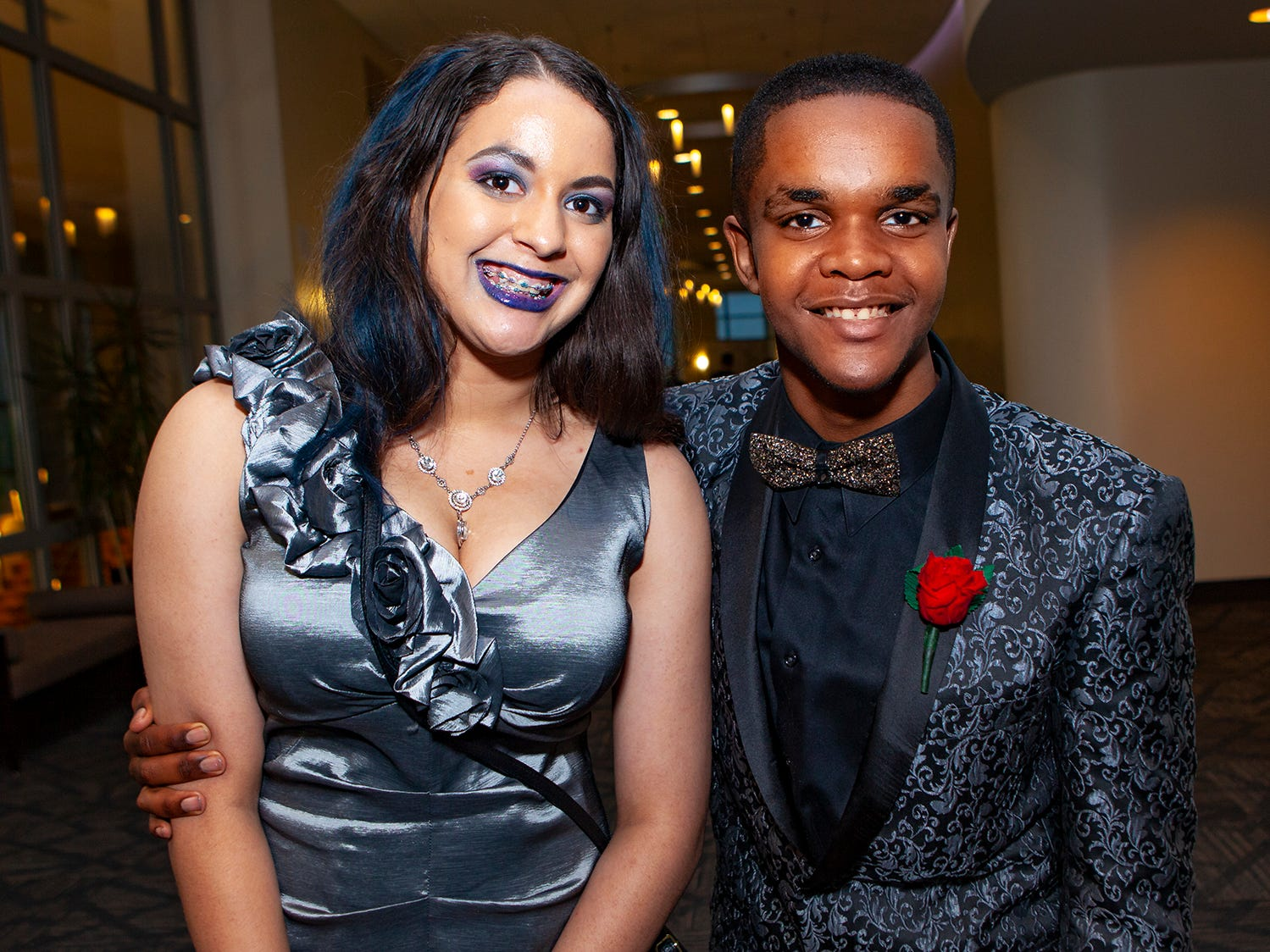 Sahara Canter and Anglo Carruthers at La Vergne High's prom, held Saturday, May 4, 2019 at MTSU's Student Union Building.