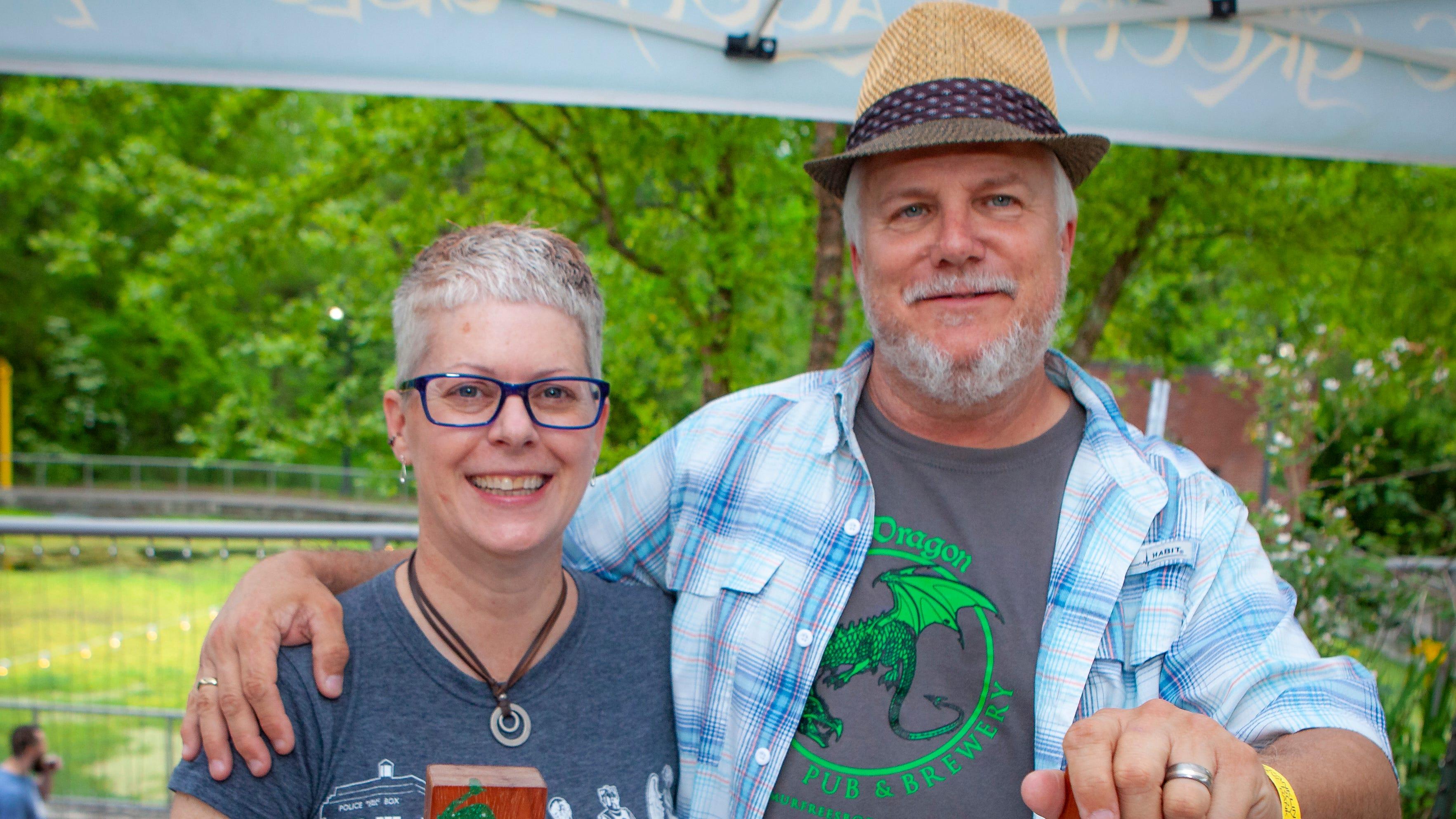 Kimberly and Joe Minter at Shakesbeer, held May 3, 2019 at the Discovery Center at Murfree Spring.