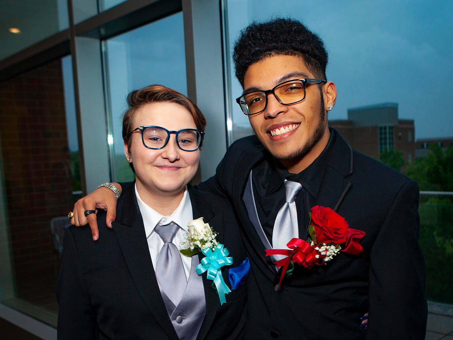 Fayte Lee and Neftalis Perez at La Vergne High's prom, held Saturday, May 4, 2019 at MTSU's Student Union Building.