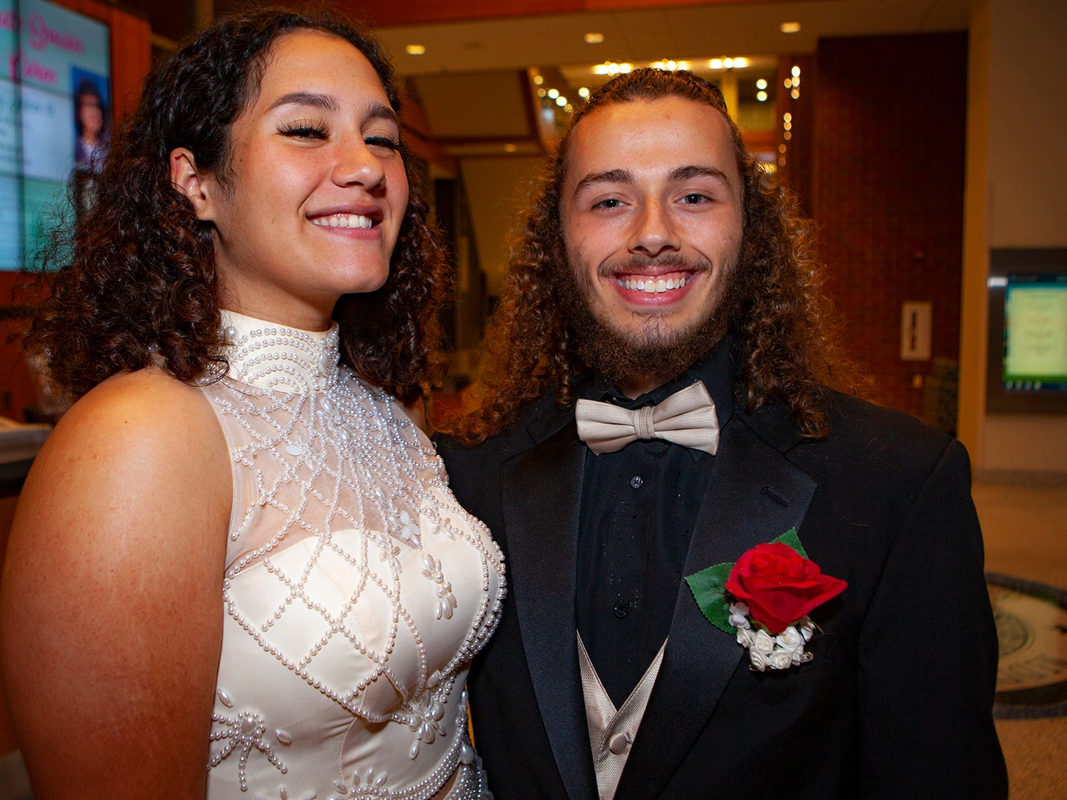 Quierra Miller and Brandon Morell at La Vergne High's prom, held Saturday, May 4, 2019 at MTSU's Student Union Building.