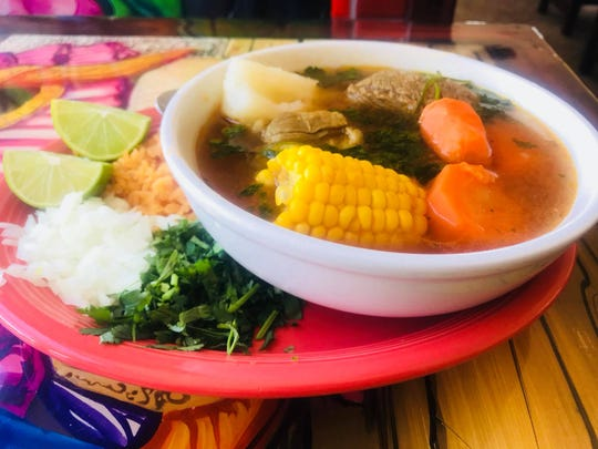 Beef caldo is one of the specialty dishes at Acapulco Burrito.