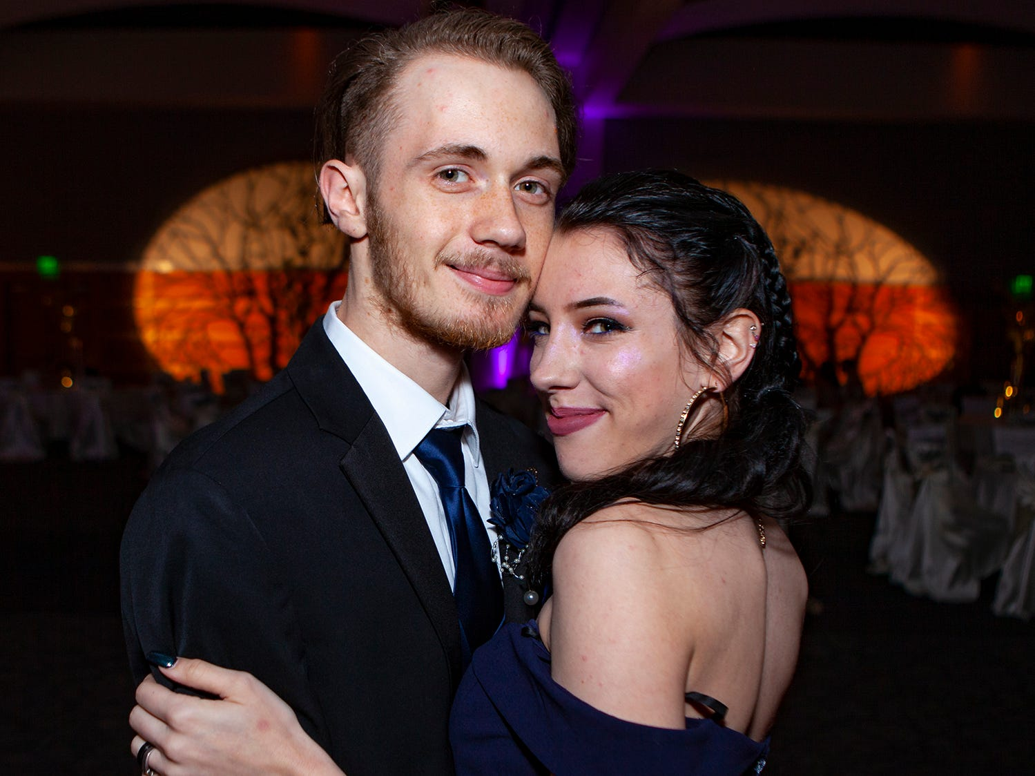 Bradley Kistner and Destiny Webber at La Vergne High's prom, held Saturday, May 4, 2019 at MTSU's Student Union Building.