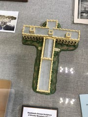A diagram in the museum of Brushy Mountain State Penitentiary shows the prison was built in the shape of a cross.