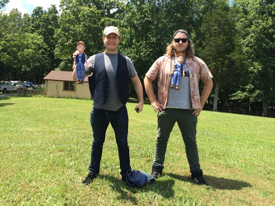 The Wuchina brothers, from left, Ivon and Eyan, at the first Ernest Day at Montgomery Bell State Park in Dickson County in 2017. The twins, who are filmmakers, made a short documentary about the 2018 Ernest Day event.