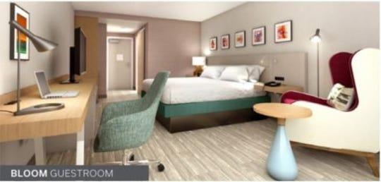 An example of a Hilton Garden Inn guest room.