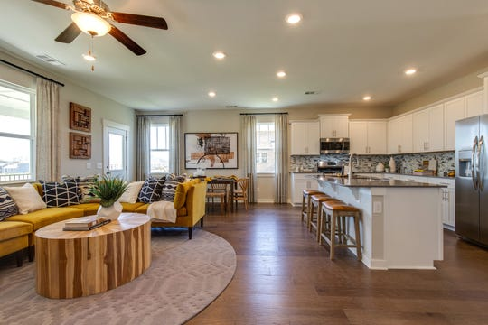 Lennar's Cumberland series of homes in Durham Farms has a floor plan with the kitchen open to the great room.