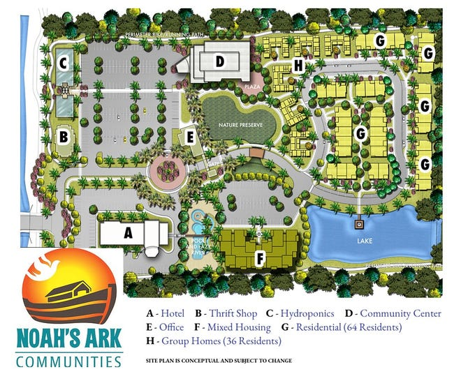 Site plan conceptual for Noah's Ark Communites.