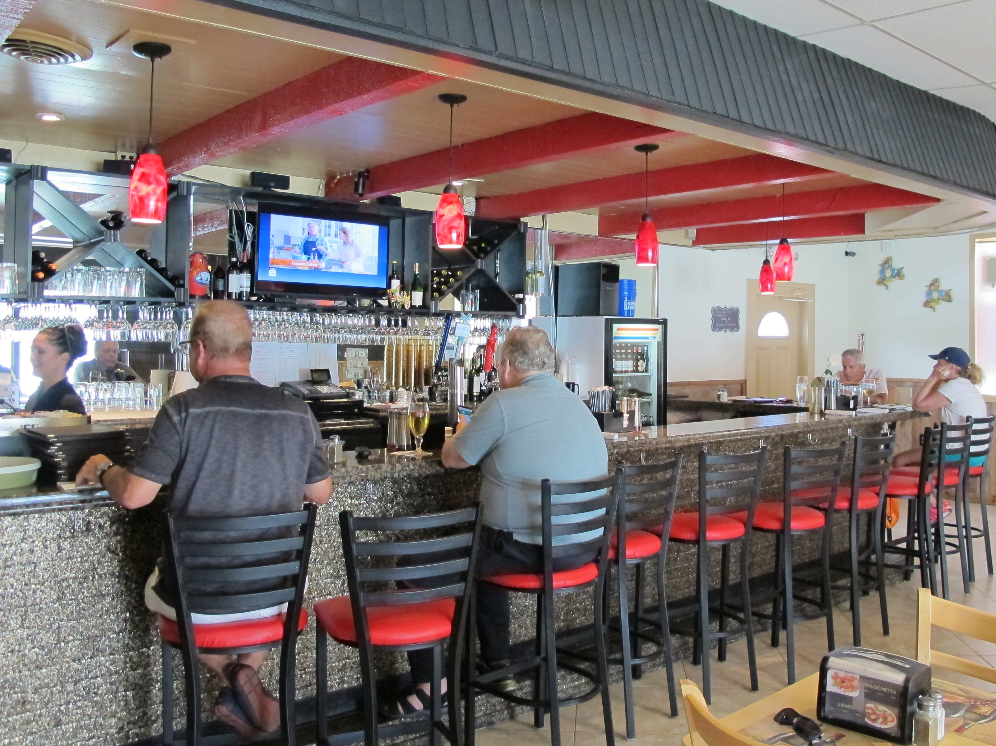 The bar at Sicilia Italian restaurant, which opened this season on Bayshore Drive in East Naples.