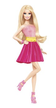 Handing certain toys, such as Barbie dolls, down to a friend's child who can appreciate them often alleviates the pain of simply discarding them.
