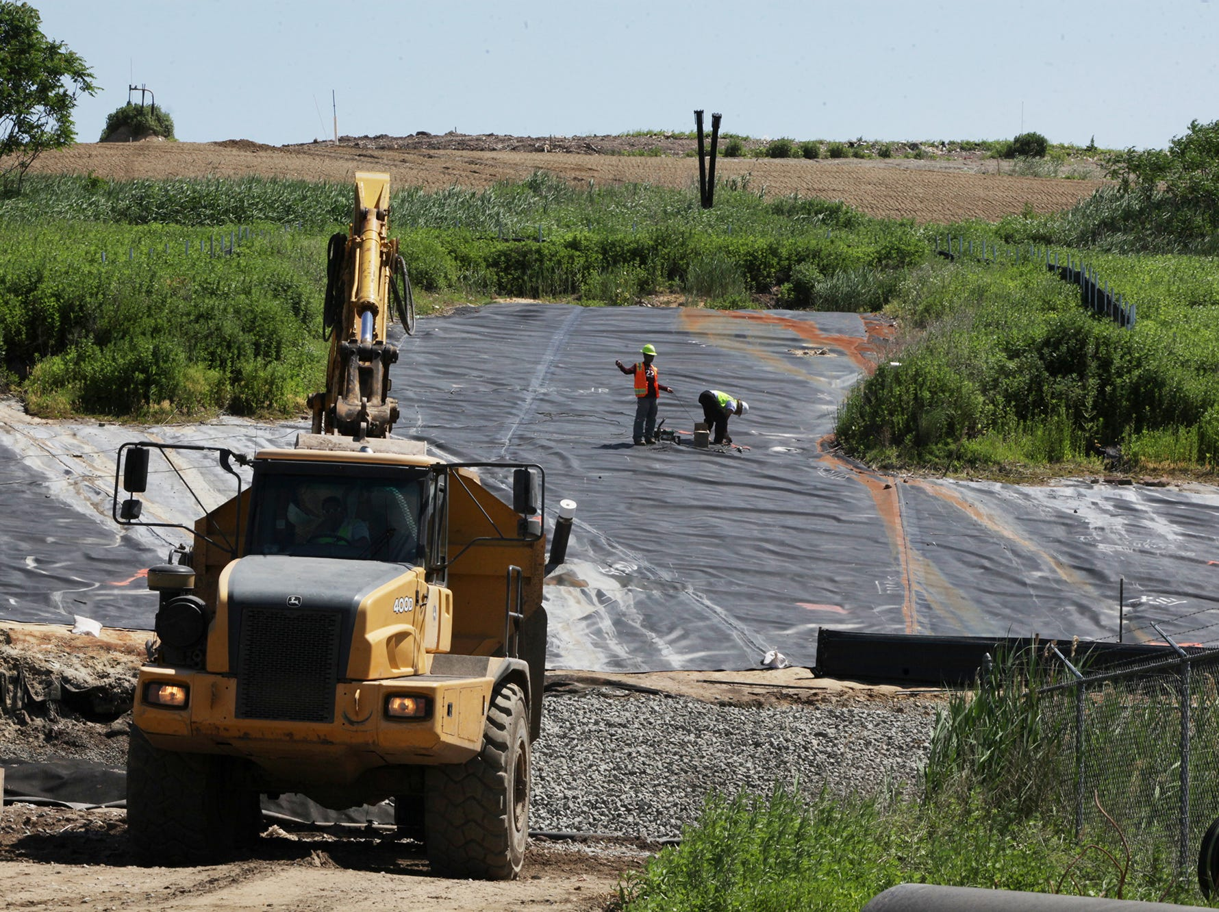 Work atop of the EnCap Site., June 2, 2011.