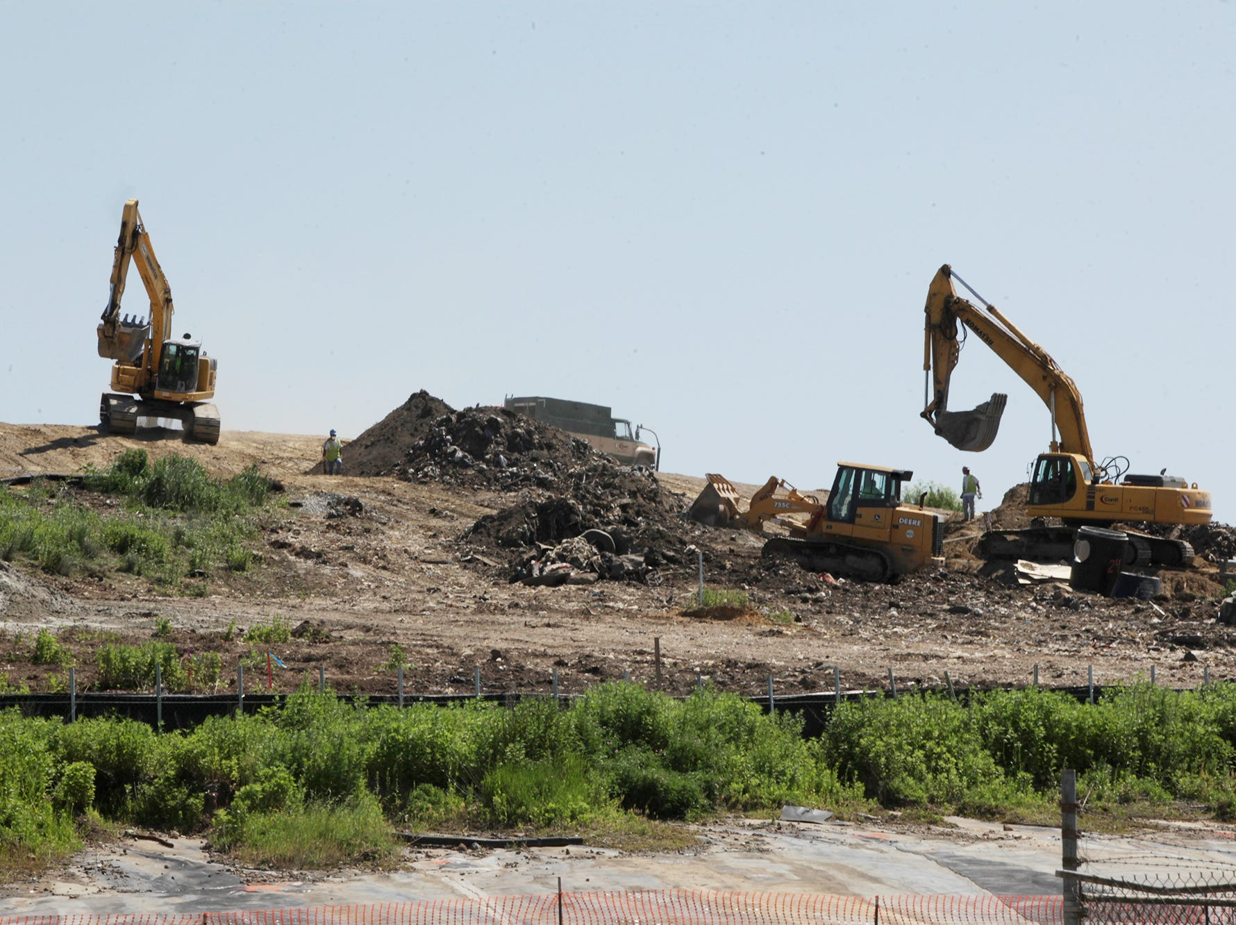 Heavy equipment atop of the EnCap Site, June 2, 2011.