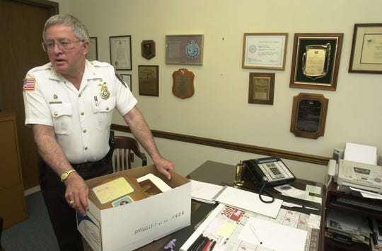 Former Clifton police Chief Frank LoGioco in May 2002 as he prepared to retire.