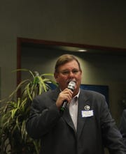 New Mexico State Sen. Gregg Fulfer (R-41) speaks during the Eddy County Republican Party Central Committee meeting May 4.