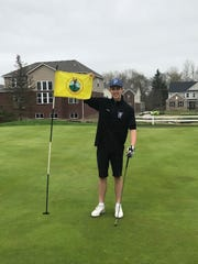 South Lyon East freshman Adam Jagacki hit his first ever hole-in-one last week against Waterford Kettering.
