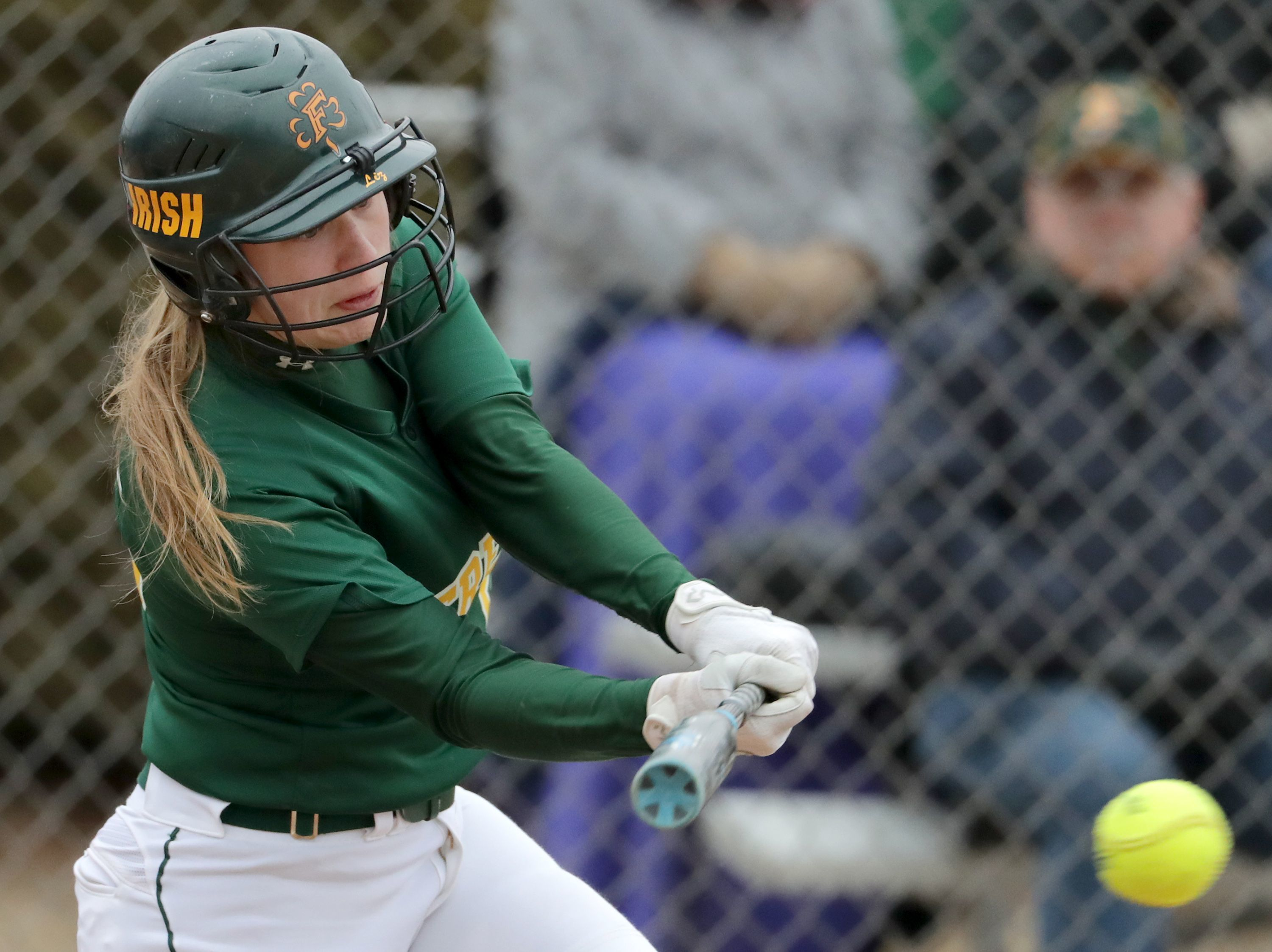 Freedom's Karissa Wurster bats during a game against Xavier in Freedom last season.