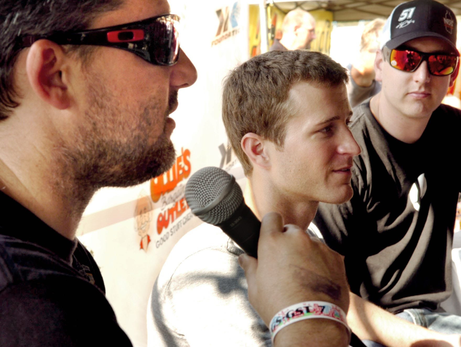 local by bil. Tony Stewart, left, Kasey Kahne and Kyle Busch talk with media prior to Thursday's races at Williams Grove in 2010.