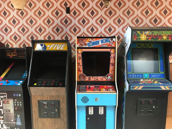 Thunderbird Lounge | Calling the historic 1930's Wagon Wheel Building home makes sense for this beloved haven for all things arcade and nostalgic. Pinball is making a comeback so there's a machine to get you up to speed if you're rusty. There's a giant Jenga in the back, or try your reflexes at arcade games like Donkey Kong Jr., Centipede, Ms. Pac-Man, D-Five and Nintendo PlayChoice-10 contests like Super Mario Brothers 3, Contra, Double Dragon, and Mike Tyson's Punch Out. Sip on a wide selection of beers ($3-$7) while snacking on chips and popcorn ($3) or pizza  ($8-$10). Details: 710 W. Montecito Ave. Phoenix. 602-283-4621, facebook.com/ThunderbirdLoungePHX.