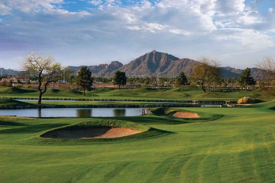 ASU Karsten in its heyday, 2008, the fourth fairway looking at Camelback Mountain.