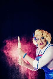 D. Scott Withers stars as Betty D. Licious in 'Cookin's a Drag,' a world-premiere musical at the Phoenix Theatre Company.