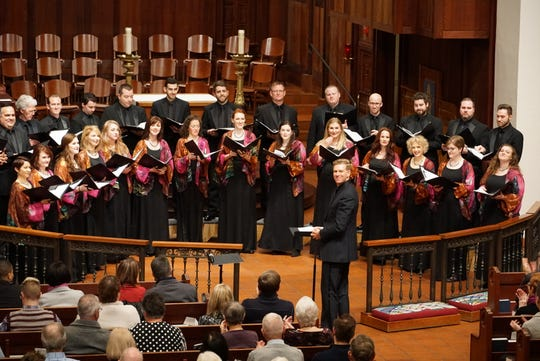 Christopher Gabbitas in concert with the Phoenix Chorale in February 2019.