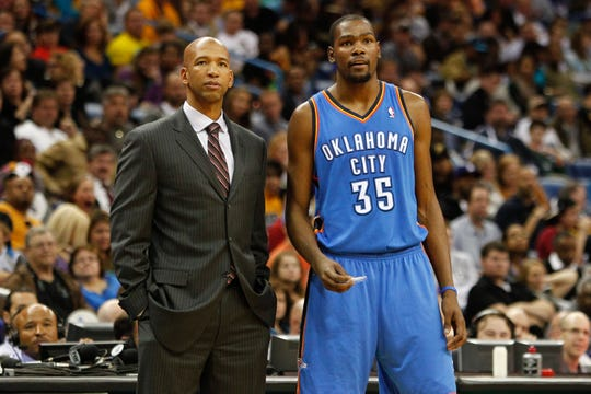 New Phoenix Suns coach Monty Williams and NBA star Kevin Durant have a history. A very positive one.