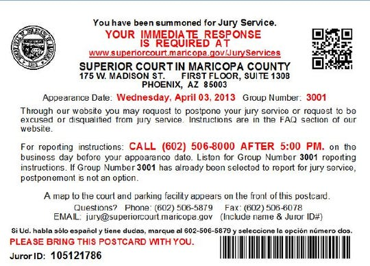 A jury summons will tell a prospective juror important information about serving,including their appearance date and steps they must take beforehand.