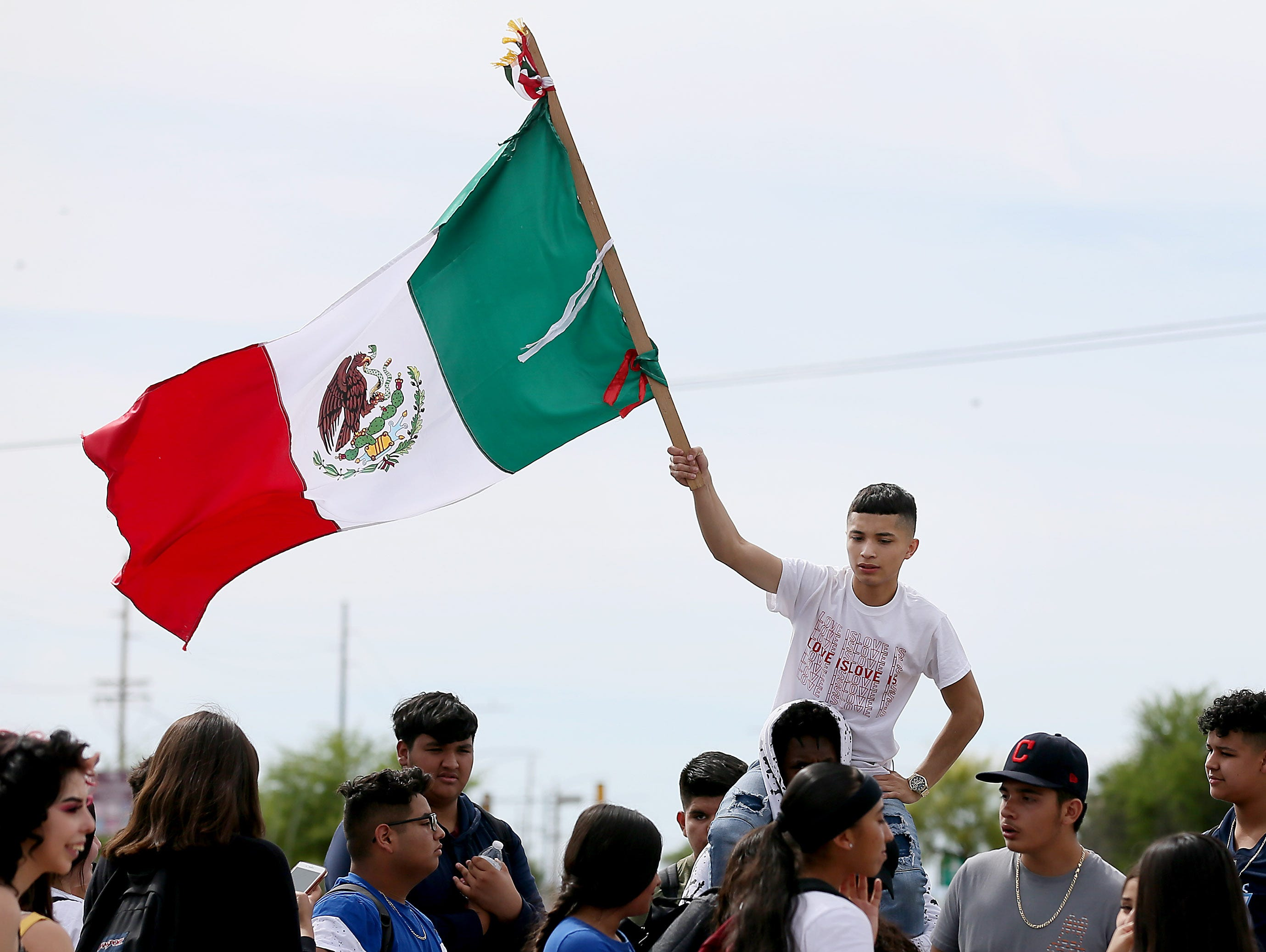 Approximately 200 students from Desert View High School marched to the Pima County Sheriff's Department on May 6th, 2019 to protest the detention of their classmate, Thomas Torres, who was stopped by a sheriff's deputy on May 2 and was detained until Border Patrol arrived.