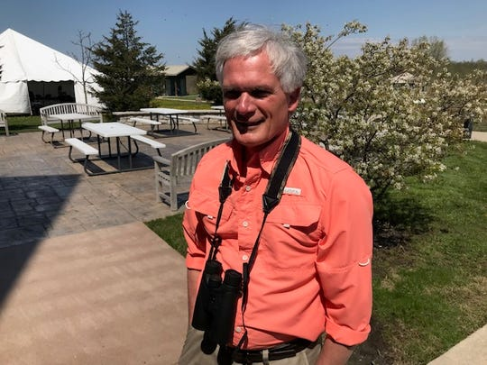 U.S. Rep. Bob Latta, R-Bowling Green, said he is an avid birder. Latta visited the Ottawa National Wildlife Refuge Monday during the Biggest Week in American Birding.