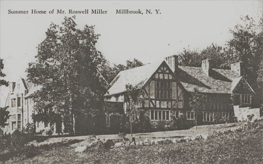 Vintage postcard shows the Migdale estate in Millbrook, which was the home of Roswell Miller Jr. and Margaret Carnegie, the only child of wealthy industrialist and steel magnate Andrew Carnegie. The mansion was designed after one of Andrew Carnegie's homes, Skibo Castle in Scotland.