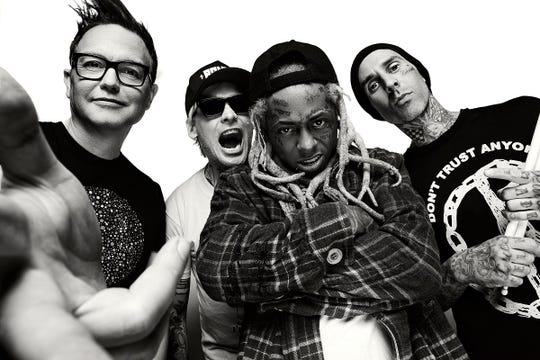 Blink-182 and Lil Wayne will be going on tour together this summer.
