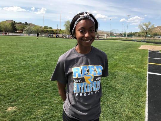 Reed senior Roxy Patterson is the top woman sprinter in the Northern 4A.