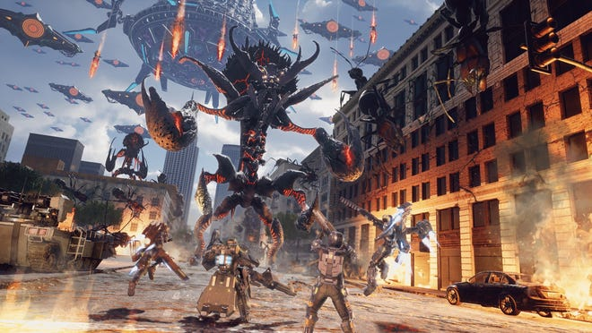 Earth Defense Force: Iron Rain for PS4.