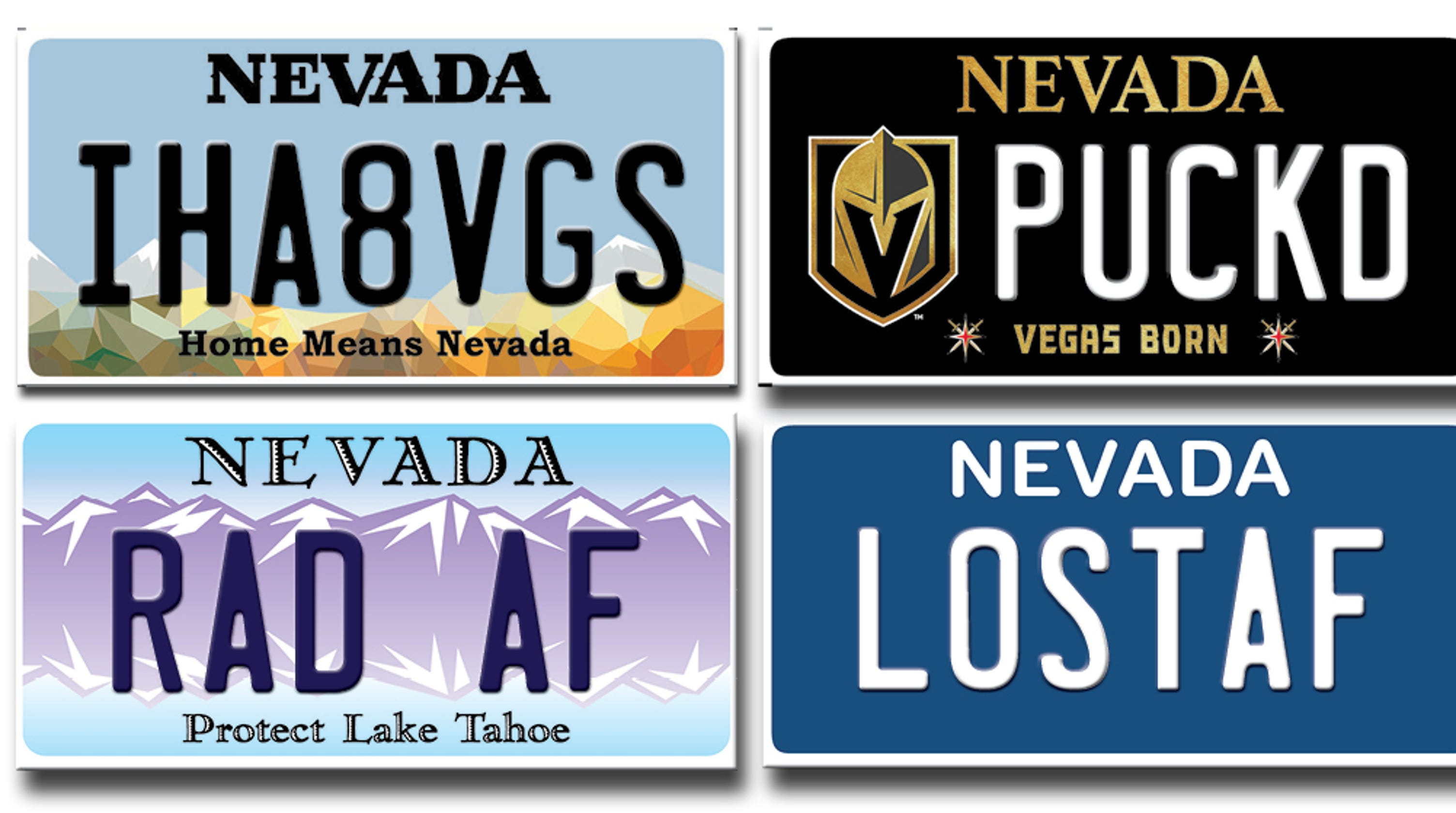 Here S Why Nevada S Dmv Rejects So Many Vanity License Plates