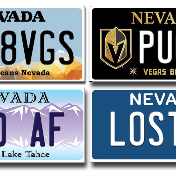 IHA8VGS? Here's why Nevada DMV rejected 1,013 vanity plates last year
