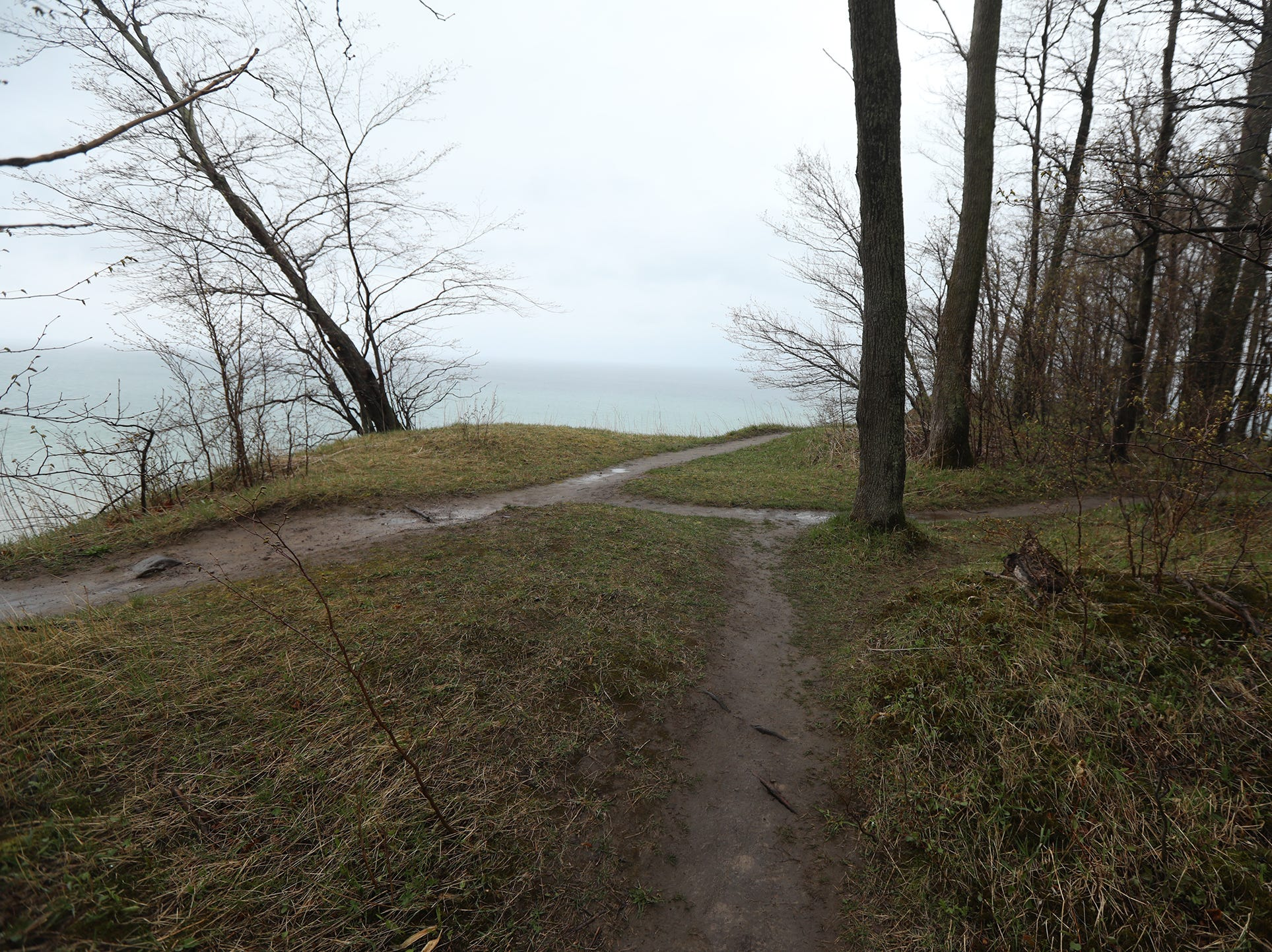 An alternate, safer trail can give hikers a view of the bluffs and Lake Ontario.