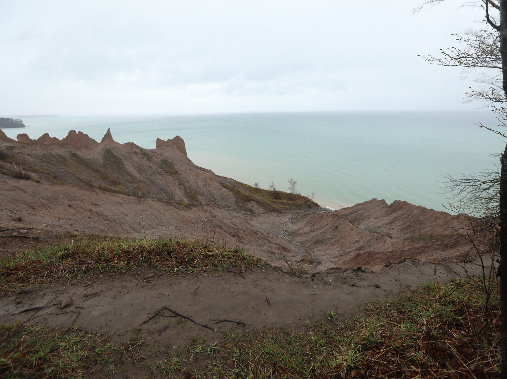 Using the bluff trail is dangerous and life threatening with several part of it completely gone from erosion.