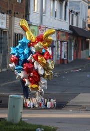 A memorial for Jalen Everett who was shot and killed Saturday, May 4 and found inside a car on Dewey and Electric Aves. 24-year-old Jalen Everett, was initially convicted in the 2015 Genesee Street shooting that killed three people and wounded four more. But that conviction was later overturned and a subsequent trial ended with Everett's acquittal.