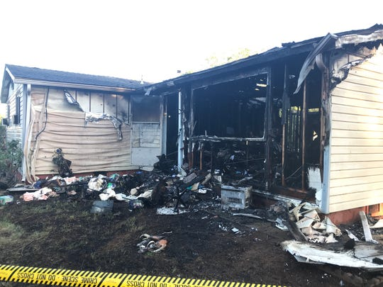 This house on Alreda Way in Redding was destroyed by an early-morning fire on Monday, May 6, 2019.